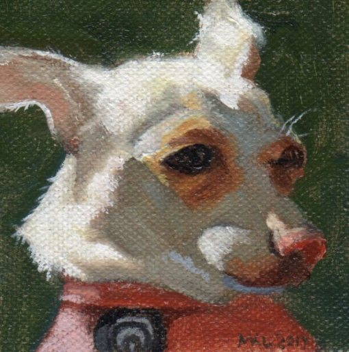"""So Bright"" 3 x 3 inches oil on canvas by Marlene Lee"