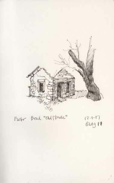 """Old House"" sketch by Marlene Lee. Photo reference by Brad, Flickr"