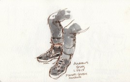 Andrew's Shoes sketch by Marlene Lee
