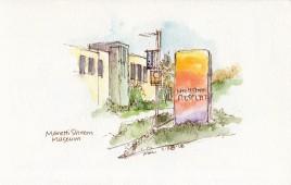Manetti Shrem Museum sketch by Marlene Lee