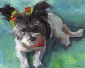 Touille, oil on 8 x 10 stretched canvas, by Marlene Lee