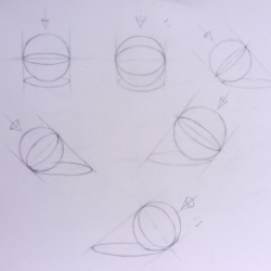 Sphere Outlines with Shadow Cast