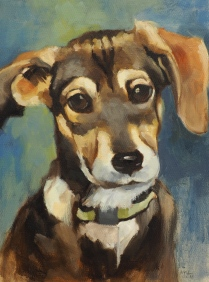 Bailey, 12 x 9 x 3/4 inches, oil on stretched canvas by Marlene Lee