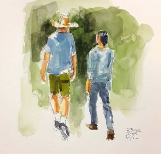 Day 15 Couple Walking 30x30DW