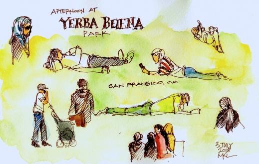 Afternoon at Yerba Buena Park