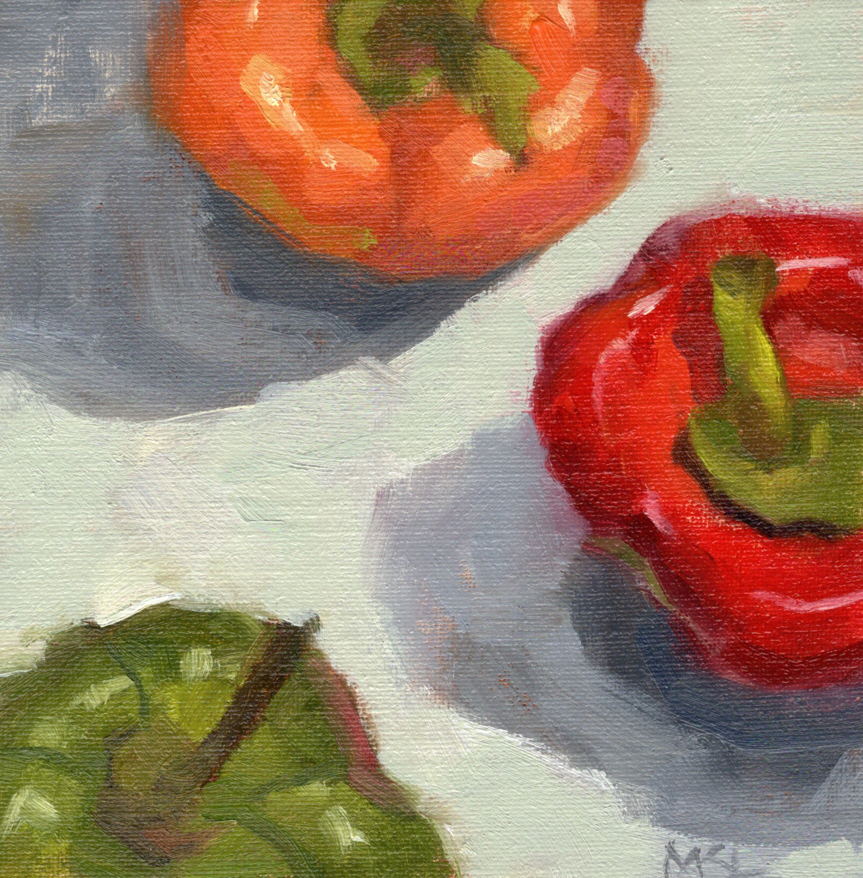 Orange Red Green Bell Peppers