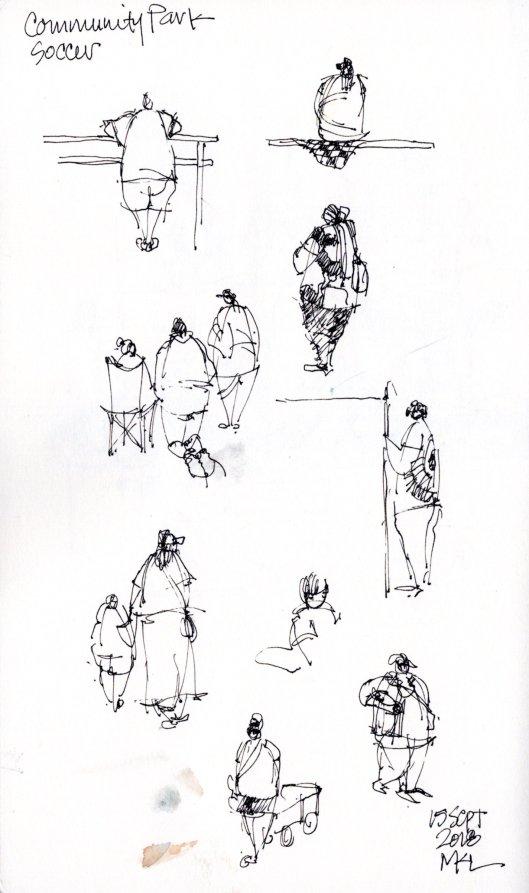 People sketches w big bodies