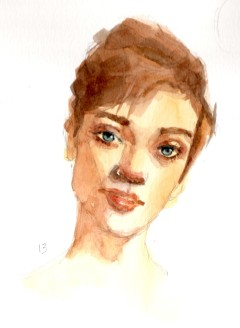 Watercolor Portrait 13