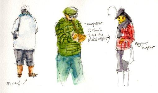 People Sketching at Square Tomato 2