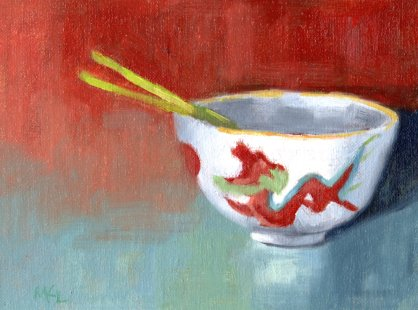 11 china bowl with green onions