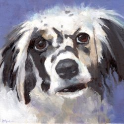 Pippa, 8 x 8 x 3/4 inch oil by Marlene Lee