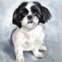 Lexi, 10 x 10, oils, commissioned