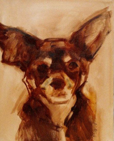 """Tyler"" underpainting with transparent red oxide"