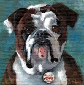 Gus, 4 x 4, oils, commissioned