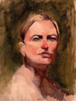 Christine, 12 x 9, oil, 2016