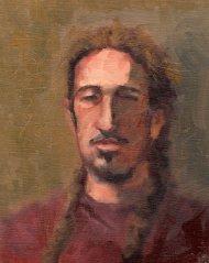 Zane, 10 x 8, oil, 2015
