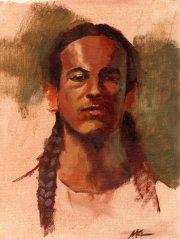 Zane, 12 x 9, oil, 2015