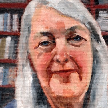 Mary Beard, PAOTW 2020, 8x6 inches, oil on canvas panel