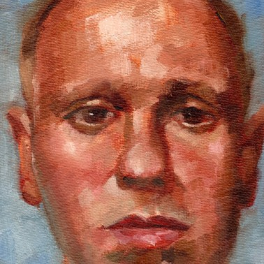 Robert Rimer, PAOTW 2020, 7x5 inches, oil on canvas panel